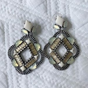Stella & Dot drop earrings 2 in 1